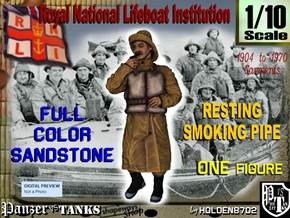 1-10 RNLI PIPE SMOKER Full Color Sandstone in Full Color Sandstone
