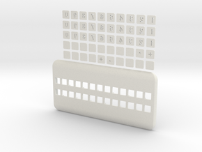 Set widget phone number in White Natural Versatile Plastic