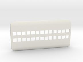 Сase for the phone number in White Natural Versatile Plastic