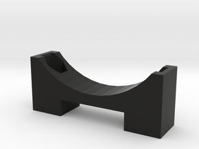 Capacitor Bracket in Black Natural Versatile Plastic