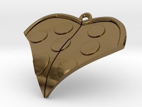 PizzaHeart 2 in Polished Bronze
