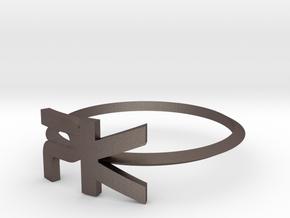 """Parallelkeller Ring """"Elegant Rim PK"""" in Stainless Steel"""
