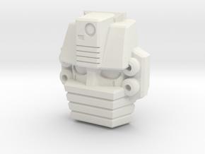 Gutcruncher Face (Titans Return) in White Natural Versatile Plastic