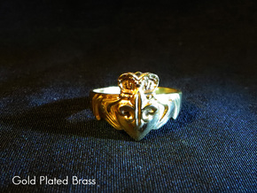 NOLA Claddagh, Ring Size 7.5 in White Strong & Flexible