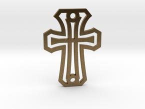 Cross / Cruz in Interlocking Raw Bronze