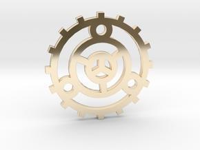 Fortune Wheel / Rueda de la Fortuna in 14k Gold Plated Brass