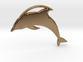 The Dolphin Necklace in Natural Brass