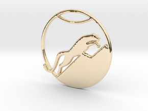 The Snow Leopard Necklace in 14K Yellow Gold
