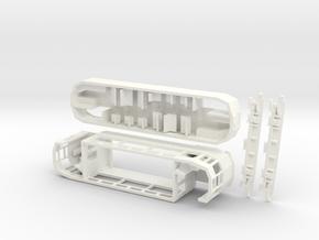 4mm Brighton 'F' Class tram with seats on upper de in White Processed Versatile Plastic