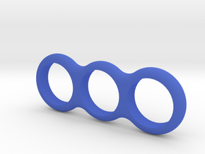 Simple Fidget Spinner in Blue Processed Versatile Plastic