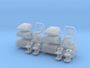 H0 1:87 Tandem Vibrationswalze 2er Set in Smooth Fine Detail Plastic