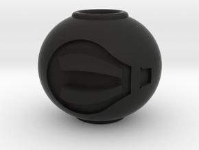 Hot Air Balloon Charm in Black Natural Versatile Plastic