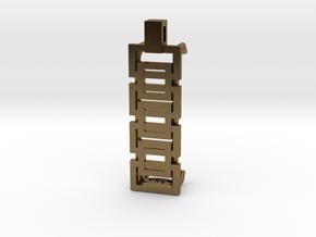 Interlocking Boxes Pendant for Fitbit Flex2 in Natural Bronze