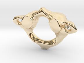 C1 Anatomical Atlas Pendant in 14K Yellow Gold