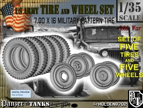 1-35 Tires And Wheels 700x16 Set1 in Frosted Ultra Detail