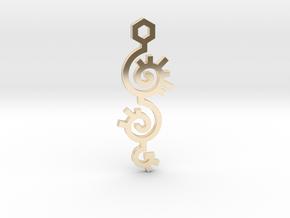 Spiral / Espiral in 14k Gold Plated Brass