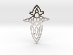 Cross / Cruz in Rhodium Plated Brass