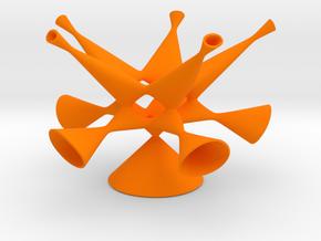 Togliatti Quintic, smoothed in Orange Processed Versatile Plastic: Small