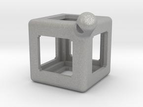 FidgetKeyCube Rev1 in Aluminum