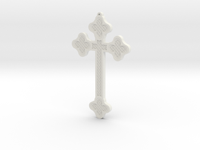 1:6 scale replica cross; Bram Stoker's Dracula in White Natural Versatile Plastic