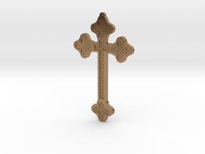 1:6 scale replica cross; Bram Stoker's Dracula in Natural Brass