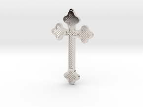 1:6 scale replica cross; Bram Stoker's Dracula in Rhodium Plated Brass