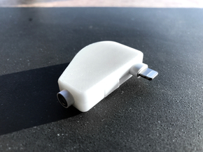 Apple Lightning To Headphone Cable Protector in White Natural Versatile Plastic