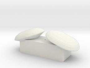 Ryan Doppler Set in White Natural Versatile Plastic