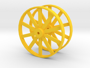 Wheels For Hot Dog Cart in Yellow Processed Versatile Plastic