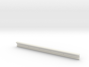 HO WCK Station Rear Upper Moulding - Shorter Lengt in White Strong & Flexible
