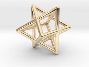 Merkaba pendant - small in 14K Yellow Gold