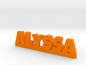 ALYSSA Lucky in Orange Processed Versatile Plastic