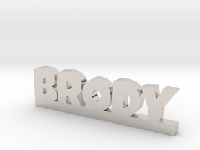 BRODY Lucky in Rhodium Plated Brass