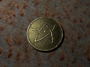 Elder Sign Coin in Metallic Plastic