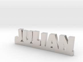 JULIAN Lucky in Rhodium Plated Brass