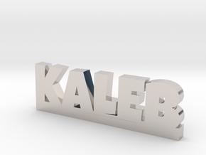 KALEB Lucky in Rhodium Plated Brass