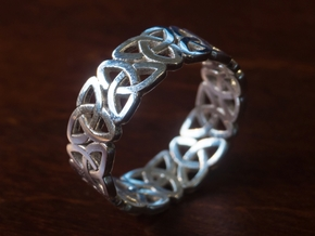 Celticring9 in Polished Silver