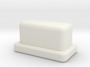 Talymod V1 Hashem Button in White Natural Versatile Plastic
