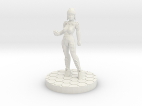 Alexandra Pryce (28mm/Heroic scale) in White Strong & Flexible