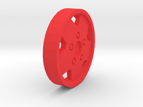 Jeep Rim in Red Processed Versatile Plastic