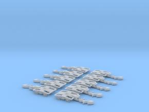 5 Paar: Y-25 Drehgestell Spur Z (1:220) in Smooth Fine Detail Plastic