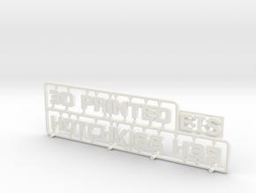 "Sign ""3D Printed"" #3 in White Processed Versatile Plastic"
