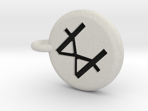 Runescape: Catalytic Rune Keychain in Full Color Sandstone