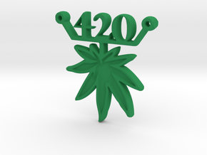 420 leaf d in Green Strong & Flexible Polished