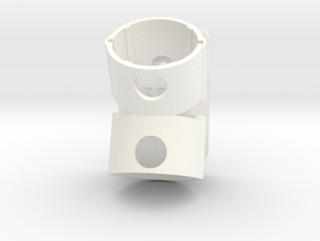 Holder For Dyson V8 - Offset in White Processed Versatile Plastic