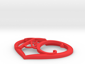 T&C Heart Right Size in Red Processed Versatile Plastic