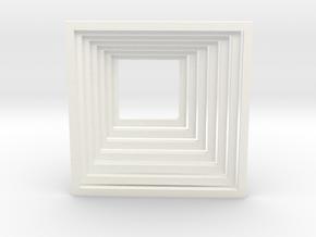 Infinite Hallway in White Processed Versatile Plastic