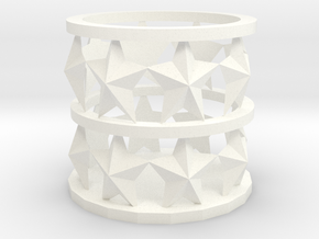 star candle Holder in White Strong & Flexible Polished