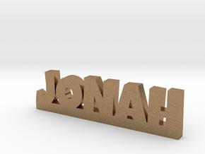 JONAH Lucky in Natural Brass
