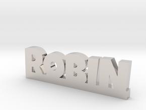 ROBIN Lucky in Rhodium Plated Brass